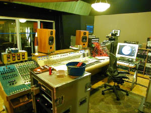 photo of control room in recording studio