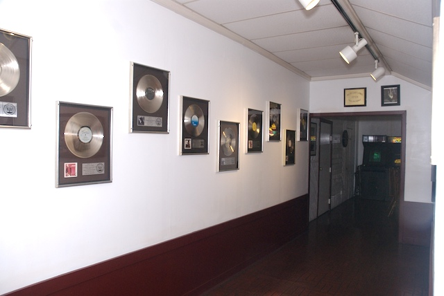 entrance to recording studio