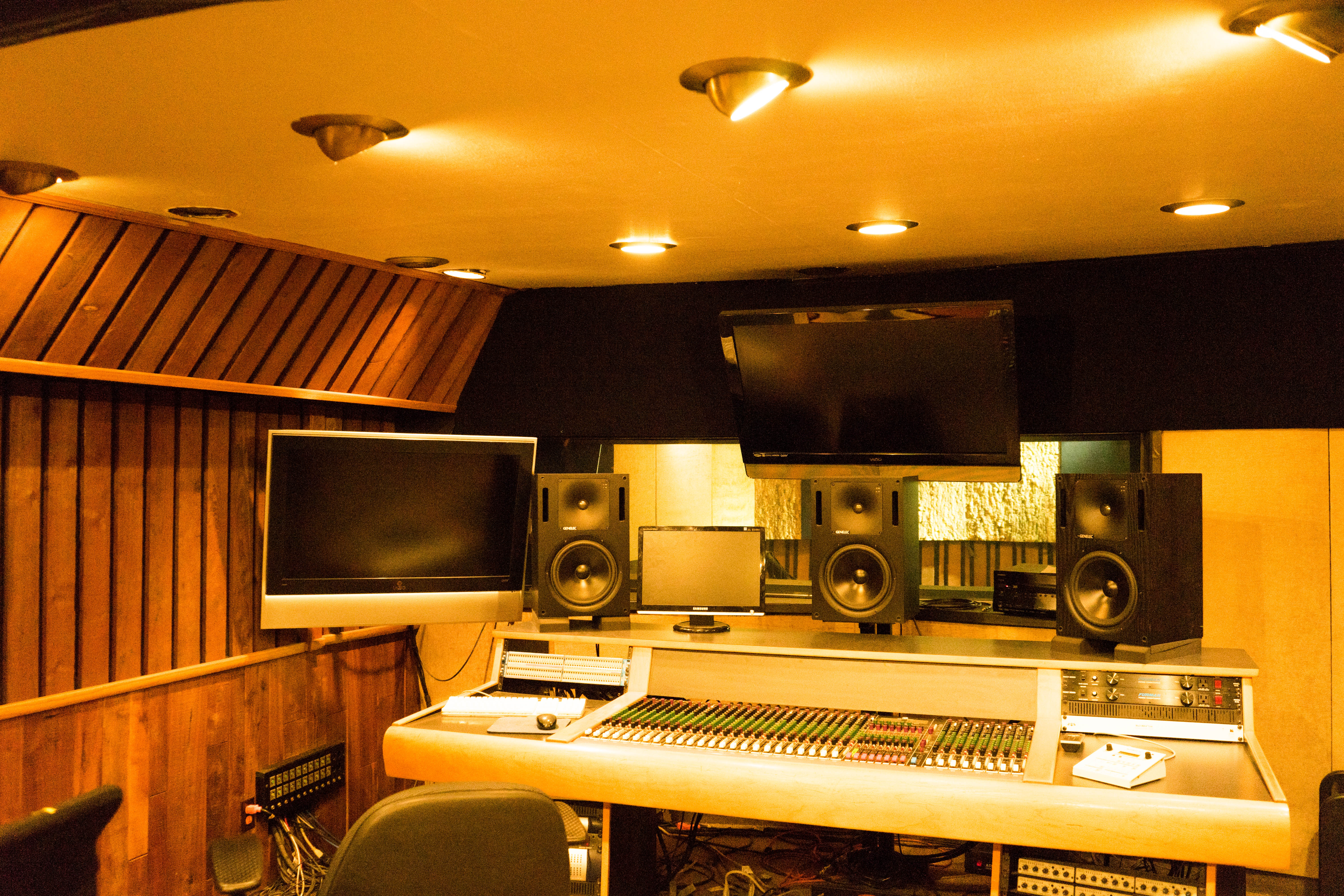 Control Room with link to more info on the Recording Studio